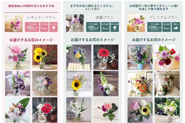 サブスク 花 の