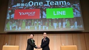 ヤフーとLINEが統合会見 日本から世界をリードするAI企業に