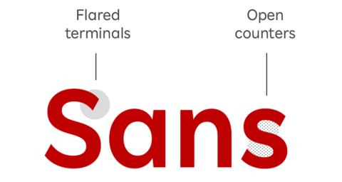大文字と小文字の高さのバランスを読みやすい比率で統一。視認性や可読性も追求し、読み文字としても美しくなるよう設計している