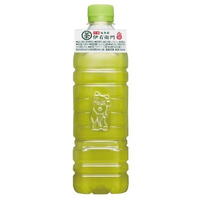 20年4月と8月、コンビニと駅の売店で販売したサントリーの緑茶「伊右衛門ラベルレス(首掛式ラベル付)」。原材料や賞味期限などは首掛け式のラベルに記載した(写真提供/サントリー食品インターナショナル)