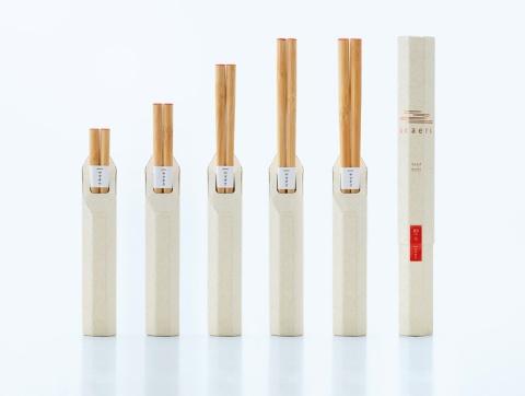 老舗箸メーカーが立ち上げた自社ブランド「okaeri(おかえり)」。23cmと21cmは1650円(税込み、以下同)、18cmと16cmは1430円