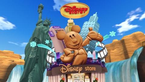 バーチャルディズニーストア外観。店内には日本オリジナルキャラクター「UniBEARsity(ユニベアシティ)」のぬいぐるみや、ファッションアイテム、ライフスタイル雑貨などが並ぶ (c)Disney