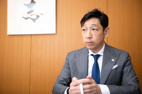 船橋屋8代目の渡辺雅司社長(写真/小野さやか)