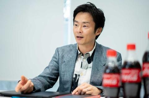 日本コカ・コーラ マーケティング本部 炭酸カテゴリー コカ・コーラTMグループ シニアマネジャーの安念剛氏。コカ・コーラブランドのマーケティングを専任で担当