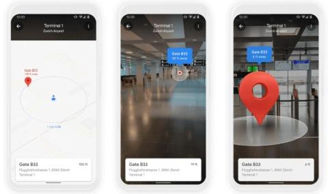 施設内のナビゲーションを可能にするGoogle マップの「ライブビュー」(出所/米グーグル)
