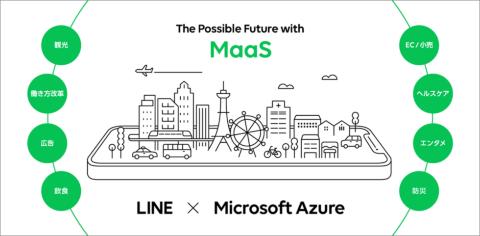LINEとMicrosoft Azureを活用し、MaaSの本格普及を目指す。MaaS×異業種の連携モデルも構築していく