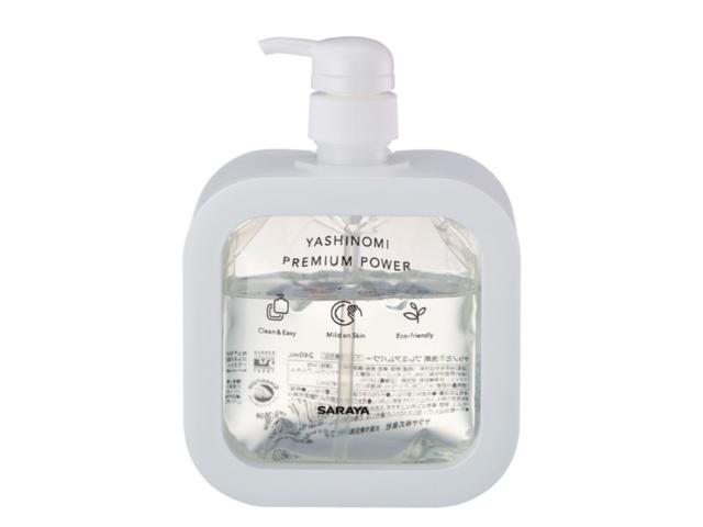 おしゃれなデザインの食器洗剤容器。高齢者や障害者も簡単に液剤の交換が可能。清潔な液剤交換で衛生的価値も提供する