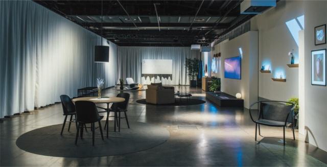 トルトーナ地区の特設会場で行った「Hidden Senses(隠された感覚)」。5つのケーススタディからなる展示の最後では、個々の技術を実際の生活空間で生かす可能性を提案してみせた