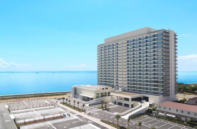 東京ベイ東急ホテルの外観。全客室から東京湾が一望できる