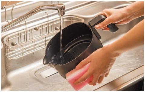 ケトル部分を丸洗いでき、メンテナンス性が高い