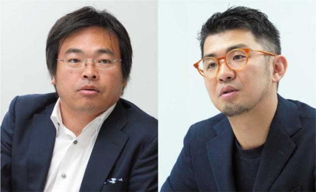 左:野上宏志●日本サッカー協会マーケティング部 部長 右:佐宗邦威●biotope代表 (写真/新関雅士)