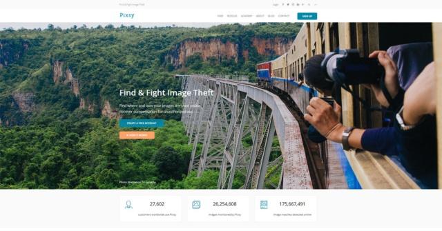 「Pixsy」のWebサイト