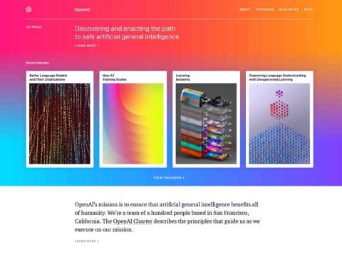 Open AIのWebサイト