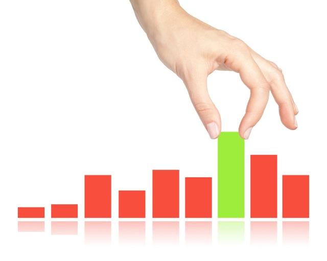 値の大きさを比べるビジュアルには棒グラフが適している(c)Shutterstock