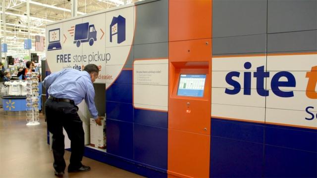 米ウォルマートはECで注文してセルフサービス型で店舗で受け取る巨大なロッカーを設置