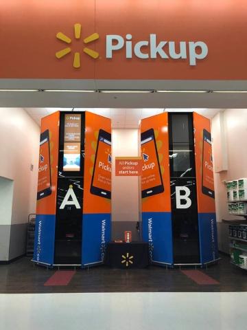米ウォルマートは全店に受け取るロッカーの設置する計画