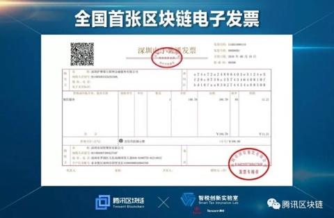 深圳市のブロックチェーン電子インボイス(テンセントのサイトから)