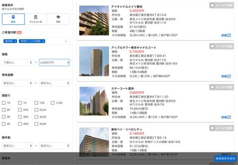 不動産仲介の業務支援サービス「PropoCloud(プロポクラウド)」の画面