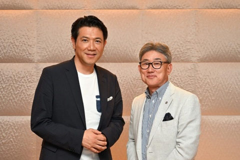 ネスレ日本の高岡浩三社長とショートショートフィルムフェスティバル&アジア代表の別所哲也氏