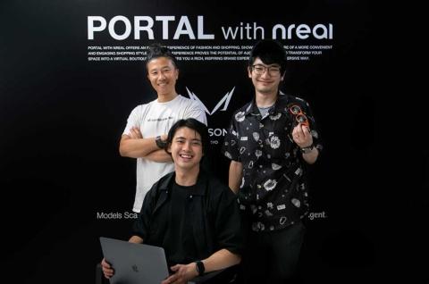 <写真中央>梶谷健人氏。MESON CEO。ARを中心としたXRサービスの開発をさまざまな企業と展開。著書に『いちばんやさしいグロースハックの教本』(インプレス)。 <写真右端>芦田直毅氏。CyberHuman Productions取締役。13年サイバーエージェント入社。プランナーを経て、17年に3DCG動画広告制作に特化したCGチェンジャーを設立して代表に。19年より現職 <写真左端>中橋敦氏。サイバーエージェント クリエイティブディレクター。18年より現職。デジタルとフィジカルの融合をテーマに、数々のクリエーティブ制作を手掛ける。16年からデジタルハリウッド大学・大学院准教授
