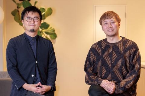 クックパッドJapan執行役員 たのしいキッチン事業部の渡部一紀氏(右)とNOSIGNERの太刀川英輔氏(左)(写真/丸毛 透)