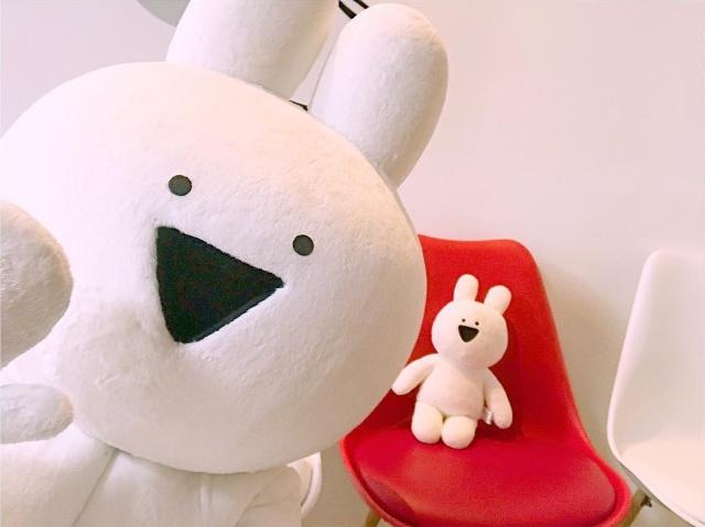 シンプルかつシュールな表情が愛くるしいと若者に人気の「すこぶる動くウサギ」(写真提供:DK)