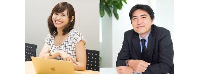 パロアルトインサイト CEOの石角友愛氏(左)とオムロン イノベーション推進本部SDTM推進室長の竹林一氏
