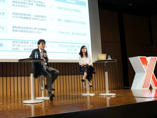 オムロンイノベーション推進本部SDTM推進室長の竹林一氏と、AI企業の米パロアルトインサイトCEOである石角友愛氏による対談「AI・IoTを新規事業の創造にどう生かすか」