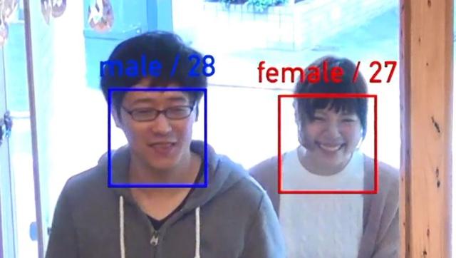 カメラ画像の解析により来場者の属性を把握できる(画像データは解析後に破棄している)