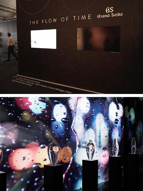 グランドセイコーはミラノで高評価を得た特別展「ザ・フロー・オブ・タイム」を再構築して披露。ミラノと東京での展示に比べると縮小したグランドセイコーの展示ブースだが、濃密な空間に多くの来場者が足を止めた(下写真/James Harris)