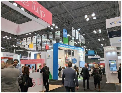 2019年1月13~15日に米ニューヨークのジェイコブ・K・ジェイヴィッツセンターで開催された「NRF2019」には、99カ国から800社が展示に参加した