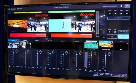 ソニーイメージングプロダクツ&ソリューションズのVirtual Productionのアプリ画面。複数カメラの映像とあらかじめ用意した映像を切り替えながら生中継できる