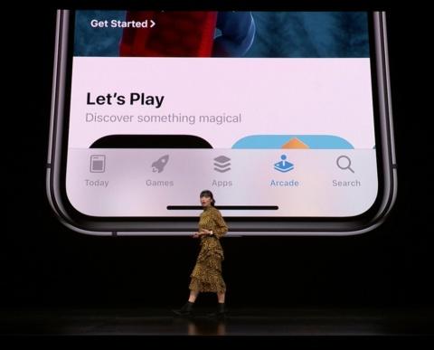アプリの「Arcade」タグからアクセスする