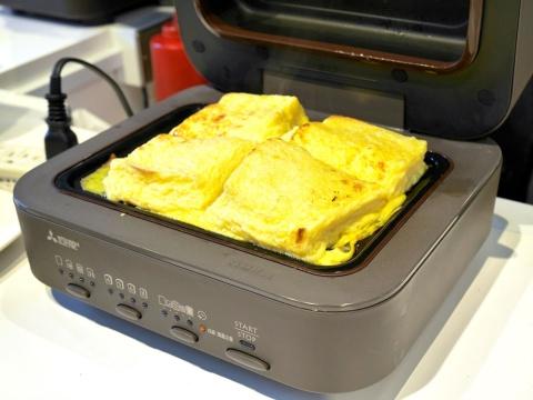 焼き上がったフレンチトースト。うまみを逃がさないことで、より濃厚な味になるという