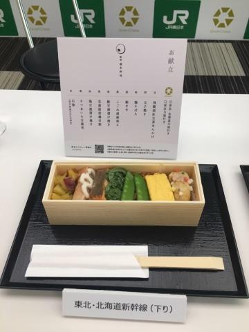 東北・北海道新幹線(下り)で提供される和軽食