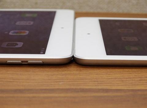 iPad Air、iPad miniともに本体の厚みは6.1ミリメートルに抑えている