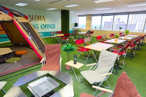 ホノルル・ワイキキにあるJTBハワイオフィス内のキャンピングオフィス