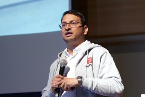 技術イベント「テクノロジーNEXT 2019」に登壇した、PayPay執行役員プロダクト本部長のアディーティヤ・マハートレ氏