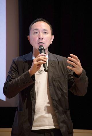 サイバーコネクトツー社長の松山洋氏。「ゲームクリエイターになりたいフランス人を連れて帰ってくるのもいいな、と思っている」と述べた