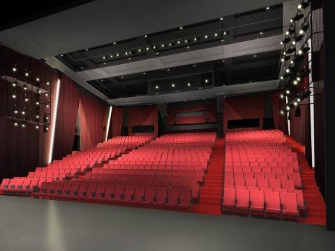 旧劇場の1.5倍の座席数に拡張されるPARCO劇場