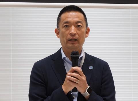 今回の協定や認知症予防の取り組みなどについて語る渋谷区長の長谷部健氏