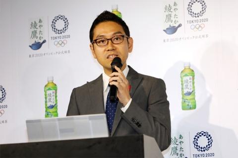 日本コカ・コーラの助川公太氏「綾鷹らしさでマインドシェア1位を目指す」と意気込む