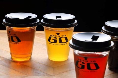 最大で17種類あるクラフトビールの中から選ぶことができる。利用料金は月2496円(税込み)。1杯250ミリリットル(通常価格は500円)。料理や2杯目以降は通常料金となる