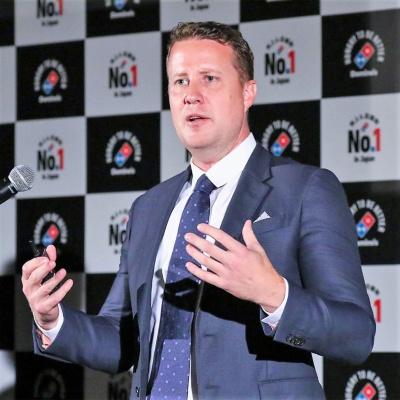 キリムニック氏は18年の1月より現職。38歳での社長就任はドミノ・ピザジャパン史上最年少
