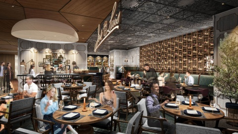 12、13階はレストランフロア。17店中、日本初出店は「ホセ・ルイス」1店(画像)。1957年にスペイン・マドリードにオープンした人気店で、伝統的なスペイン料理に日本の食材や技術を合わせて提供する。全63席