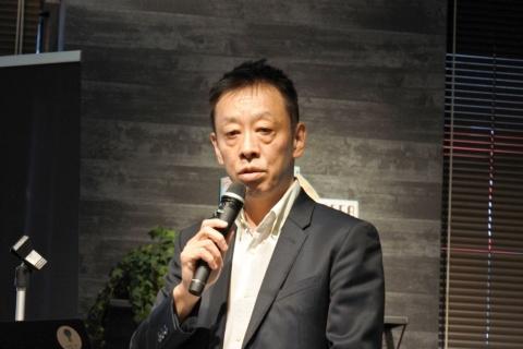 スマートフォンアプリ「マイデータ・バンク『MEY』」などの開始を発表するMDI取締役執行役員COOの森田弘昭氏