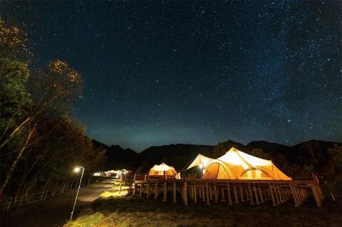 天気次第だが、夜は満天の星が存分に楽しめる