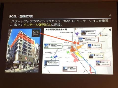 SOILは渋谷・宮益坂の雑居ビルのワンフロアに入居する