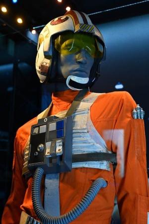 ルーク・スカイウォーカーの衣装ももちろんある。これは反乱軍のパイロットスーツ