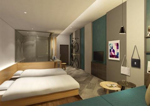 星野リゾート「BEB5 土浦」の宿泊料金は1泊税別6000円~(2人1室利用時の1人当たりの料金。食事なし)